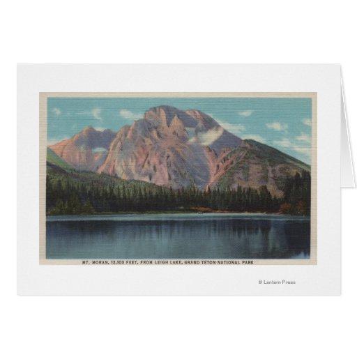IdahoView de Mt. Moran de Leigh LakeIdaho Tarjeta De Felicitación