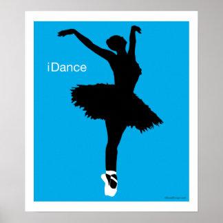 iDance azul Poster