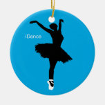 iDance Blue Double-Sided Ceramic Round Christmas Ornament