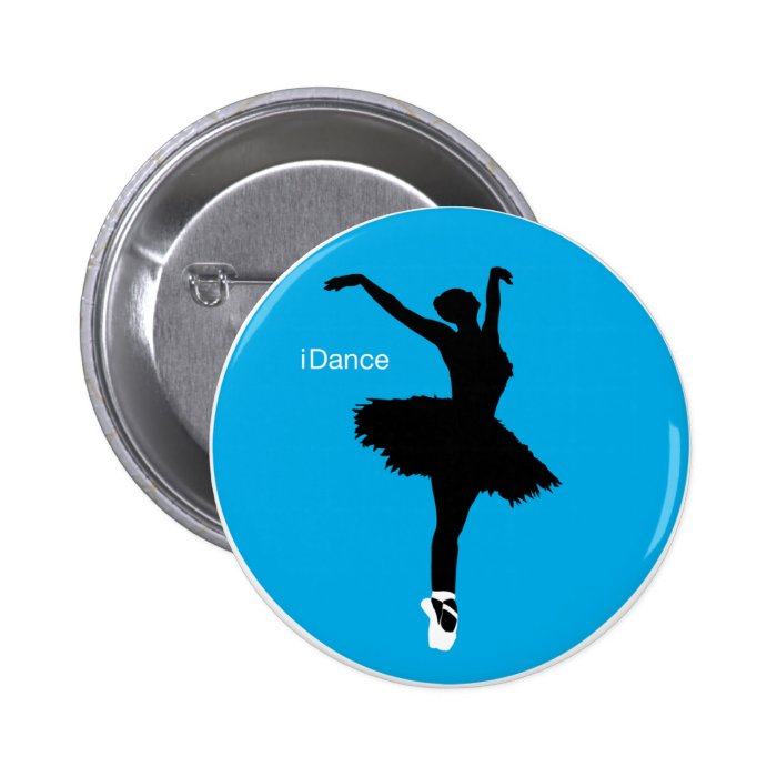 iDance (Blue) Pinback Button
