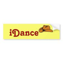 iDance cowboy hat bumper sticker