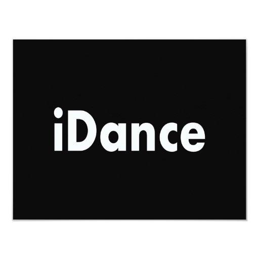 """iDance Invitación 4.25"""" X 5.5"""""""
