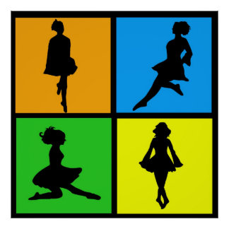 iDance Irish Dancer Silhouettes Print