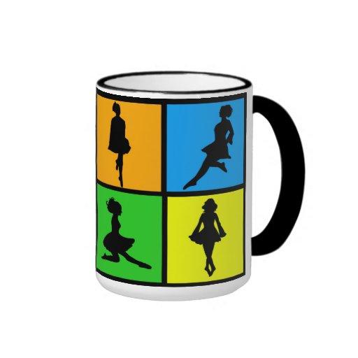 iDance Rince Ghaelaigh Irish Dance Silhouettes Coffee Mugs