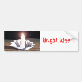 Ide lumineuse(Full HD), Bright idea ... Bumper Sticker