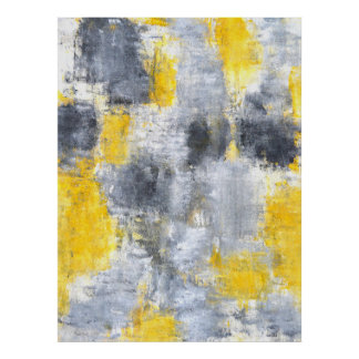 'Idea' Black and Yellow Abstract Art Poster Print
