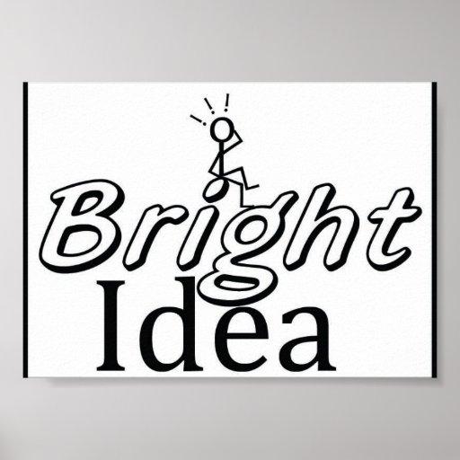 Idea brillante poster