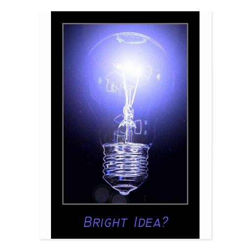 ¿Idea brillante? Tarjetas Postales
