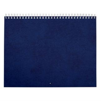 Idea casera de encargo del regalo del fondo azul d calendario