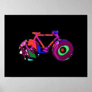 idea de la bicicleta del arte moderno póster