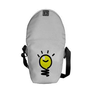 Idea de la bombilla bolsas de mensajeria