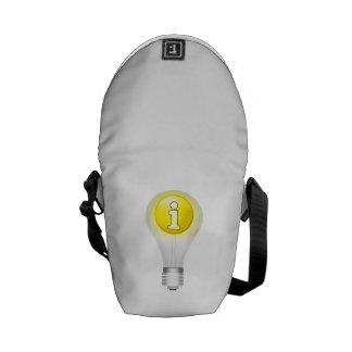 Idea de la bombilla bolsas de mensajería