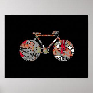 idea de la decoración de la bicicleta del arte póster
