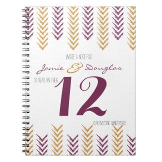 Idea de la diversión que casa flechas del número spiral notebook