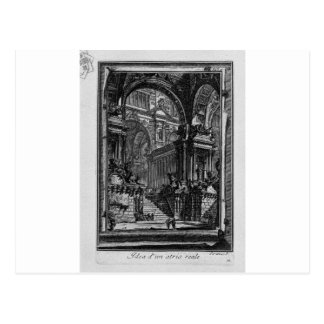 Idea de real-Pasillo de Giovanni Battista Piranesi Postal
