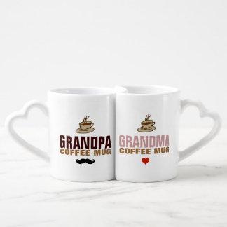 idea del abuelo y del grandmom set de tazas de café