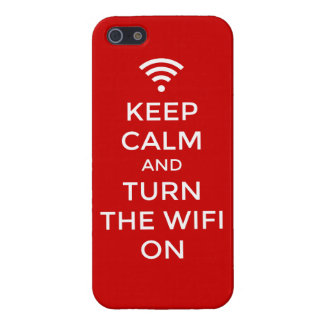 Idea del Internet - guarde la calma y gire el wifi iPhone 5 Cobertura