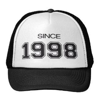 idea del regalo de cumpleaños 1998 gorras
