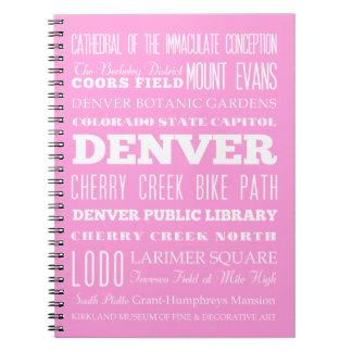 Idea del regalo de Denver única, Colorado Note Book
