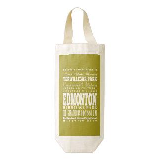 Idea del regalo de Edmonton única, Alberta Bolsa Para Botella De Vino Zazzle HEART