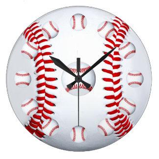 Idea del regalo de la fan de deportes de equipo reloj redondo grande