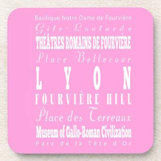 Idea del regalo de Lyon única, Francia Posavasos De Bebida