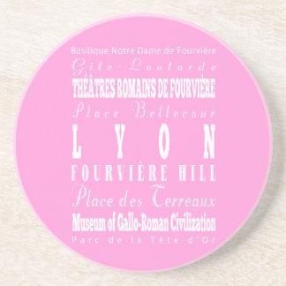 Idea del regalo de Lyon única, Francia Posavasos Para Bebidas