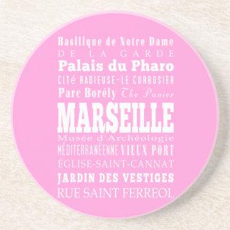 Idea del regalo de Marsella única, Francia Posavasos Para Bebidas