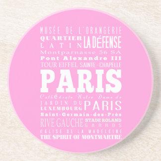 Idea del regalo de París única, Francia Posavaso Para Bebida