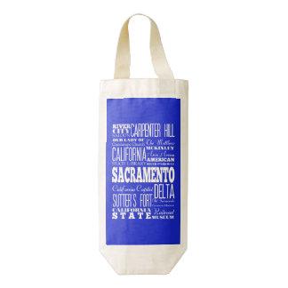 Idea del regalo de Sacramento única, California Bolsa Para Botella De Vino Zazzle HEART