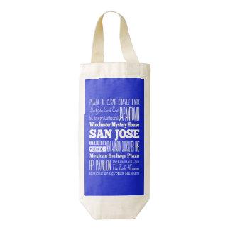 Idea del regalo de San Jose único, California Bolsa Para Botella De Vino Zazzle HEART