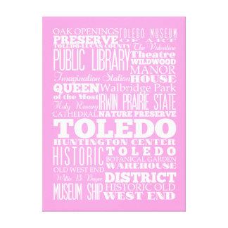 Idea del regalo de Toledo único, Ohio Impresión De Lienzo