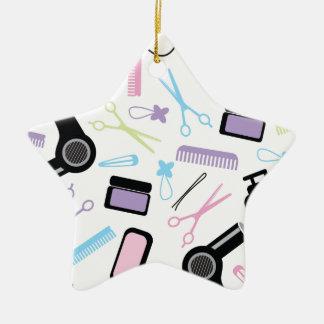 Idea del regalo del Beautician Adorno De Cerámica En Forma De Estrella