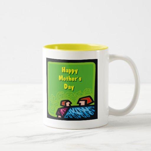 Idea del regalo del día de madres taza de café de dos colores