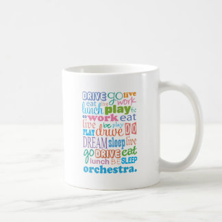 Idea del regalo del miembro de la orquesta tazas de café