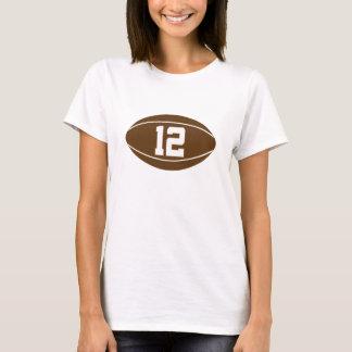 Idea del regalo del número 12 del jersey del rugbi