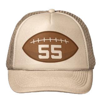 Idea del regalo del número 55 del jersey del fútbo gorro