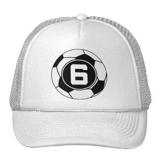 Idea del regalo del número 6 del jersey de fútbol gorros