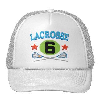 Idea del regalo del número 6 del jersey de LaCross Gorras De Camionero