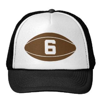 Idea del regalo del número 6 del jersey del rugbi gorro de camionero