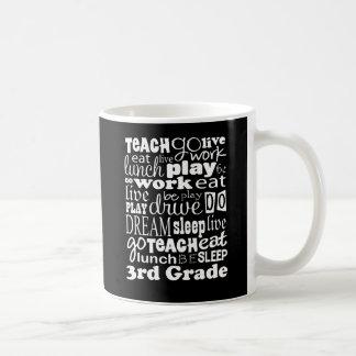 Idea del regalo para el 3ro profesor del grado taza básica blanca