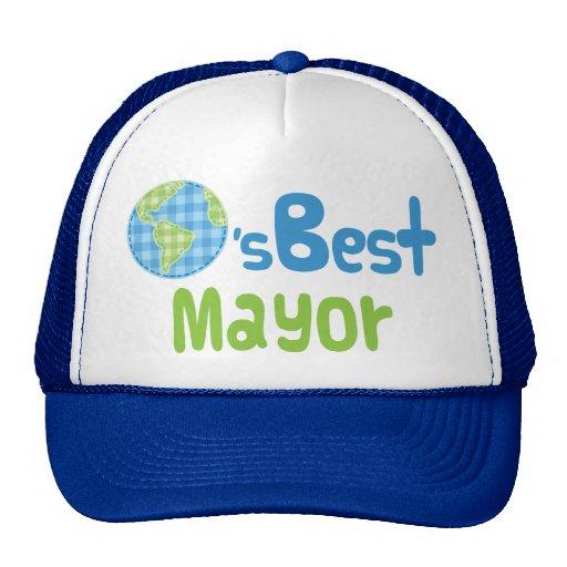 Idea del regalo para el alcalde (mundos mejores) gorro