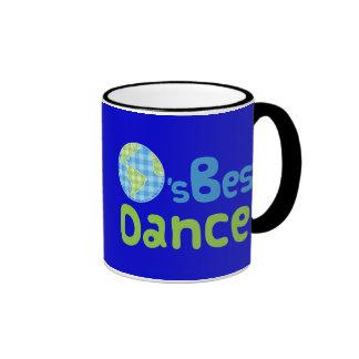 Idea del regalo para el bailarín (mundos mejores) tazas de café