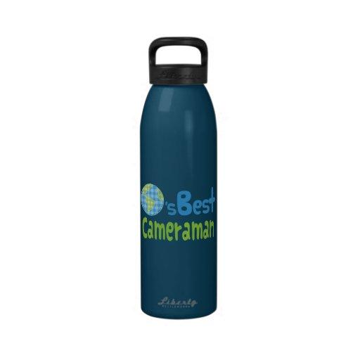Idea del regalo para el cameraman (mundos mejores) botellas de beber
