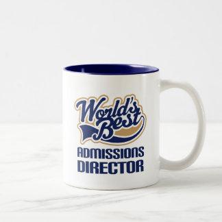 Idea del regalo para el director de las admisiones taza de café de dos colores
