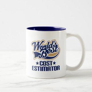 Idea del regalo para el perito del coste (mundos taza de café de dos colores
