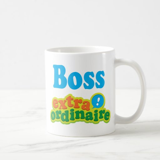 Idea Extraordinaire del regalo de Boss Taza