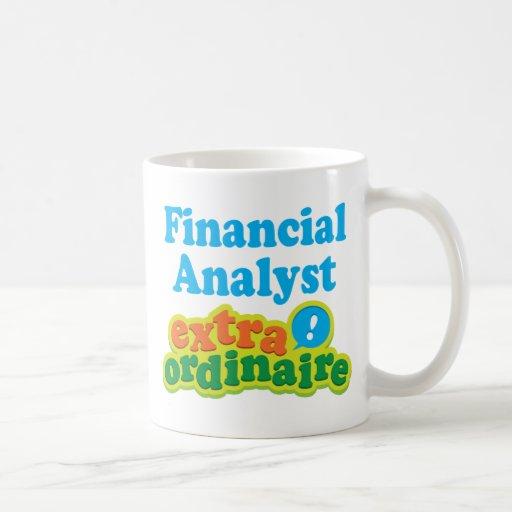 Idea Extraordinaire del regalo del analista financ Tazas De Café
