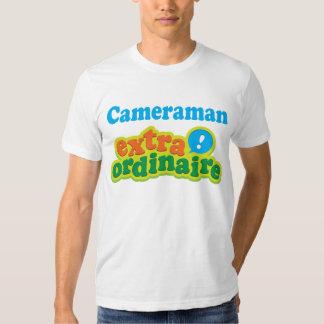 Idea Extraordinaire del regalo del cameraman Playeras
