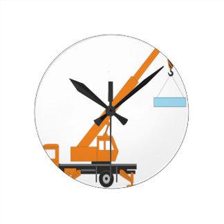 Idea fresca del regalo del muchacho de la grúa reloj redondo mediano